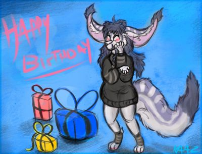 <3  Gift for MylaFox   so qt!